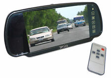 "Clip on Rear View Mirror with built in 7"" Screen for motorhome rear view cameras"