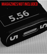 5.56 MAGAZINE STICKERS fits MAGPUL PMAG 30 GEN M3  GREY NUMBERS 1-6