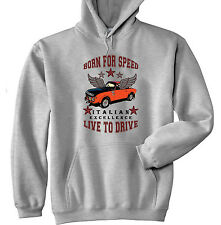 LANCIA FULVIA VINTAGE CAR BORN FOR SPEED - GREY HOODIE - ALL SIZES IN STOCK