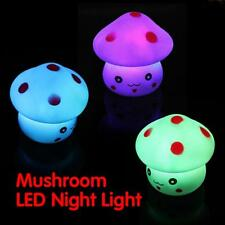 Mushroom LED Night Light Baby Children Nursery Bedroom Lamp Desk Bed Side Lamp B