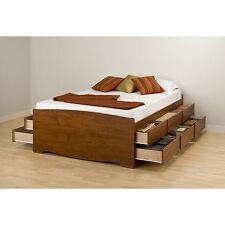 Cherry Tall Queen 12-drawer Captain's Platform Storage Bed