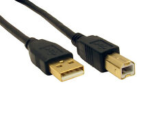 5m USB Cable Printer Lead Type A to B Male Hi Speed 2.0 GOLD CONNECTORS LONG