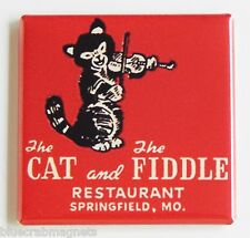 Cat and the Fiddle Restaurant FRIDGE MAGNET matchbook springfield, MO missouri