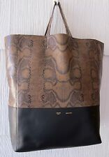 Celine Snakeskin and Leather Tote Handbag New With Tags