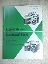 ORIGINAL 1969 E. LEITZ LEICA PHOTOGRAPHIC EQUIPMENT CATALOG NUMBER 42