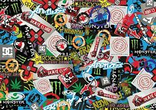 3 x A4 Sticker Bomb Sheet - JDM EURO DRIFT VW - Design 438 - (210MM x 297MM)