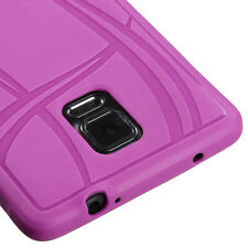 LATEST * FOR SAMSUNG Galaxy Note 4 PURPLE 1-PC SKIN SOFT RUBBERIZED COVER CASE
