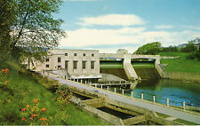 OLD POSTCARD - SCOTLAND - The Power-house and Salmon Ladder. Pitlochry Dam