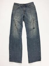 Levis engineered 619 W30 L32 tg 44  jeans uomo comodo destroyed blu jeans T1383