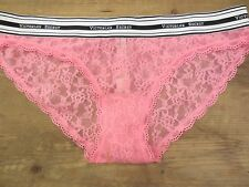 Victoria's Secret LOGO band Bikini Pink LACE bikini underwear panty womans M