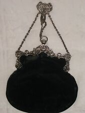 Antique Ornate Silver Chatelaine Hand Bag William Comyns 1900 London