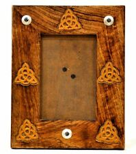 """Triquetra Wooden Photo Frame Fits photos up to 4x6"""" Wicca Pagan Triqueta"""