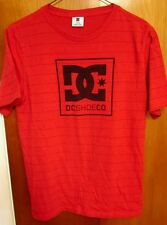 DC SHOES stripes youth lrg T shirt skateboarding logo kids tee footwear