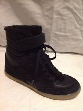 Top Shop Black Ankle Leather Boots Size 5