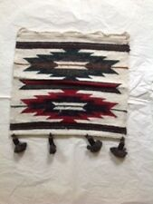 Hand woven 100% wool wall hanging tapestry table decoration 12x12 from Ecuador