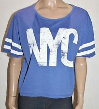 DUNNES STORES Brand Blue Boxy College Tee Size XL BNWT #TA119