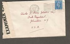 England 1945 WWII PC90 examiner 4503 censor cover 18 Crescent Av Coventry to USA