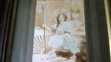 ANTIQUE  LITTLE  BO PEEP VICTORIAN FRAMED PHOTO  'AMBROTYPE'  OF CHILD PORTRAIT