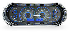 Dakota Digital Universal Oval Analog Dash Gauges Kit Carbon Fiber Blue VHX-1018