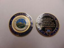CHALLENGE COIN POLICE DEPT CITY OF ROCHESTER MINNESOTA CITIZEN RECOGNITION AWARD