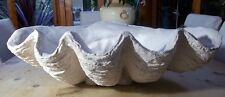 Massive Stone Giant Clam Shell Pearl Sculptured Ornament Special Occasion Gift