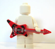 Lego 1 x Red Black Guitar Rock Star Series Band  Minifigure Not Included