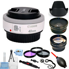 Canon EF 40mm f/2.8 STM Lens (White) PRO BUNDLE NEW!! Frustration Free Packaging