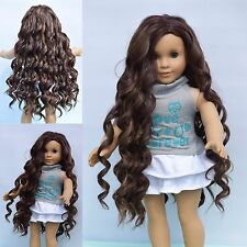 "10-11"" Custom Wig For American Girl Doll Heat Safe Journey Girls Gotz Moana"