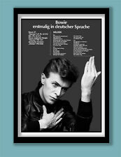 DAVID BOWIE POSTER . HELDEN /HEROES GERMAN PROMO POSTER . LARGE A2 (40x60cm)