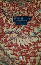 Polo Ralph Lauren VINTAGE CAMP HAWAIIAN STYLE LINEN BLEND SHIRT. EUC! MENS 2XL