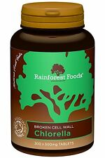 Rainforest Foods Organic Chlorella Tablets 500mg - 300 Tablets