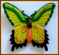 "BEAUTIFUL LARGE COLOURFUL 5"" WINGSPAN BUTTERFLY FRIDGE MAGNET. SUPER GIFT IDEA!!"