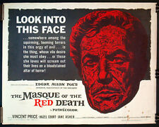 MASQUE OF THE RED DEATH orig US half-sheet 1964 VINCENT PRICE EDGAR ALLAN POE