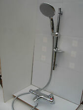 THERMOSTATIC DECK MOUNTED BATH SHOWER TAPS, LGE HANDHELD RAIL SHOWER SET 332/352