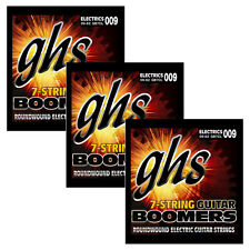 3 Sets of GHS Strings GB7CL 7-String Lower Tuning Guitar Boomers 09-62