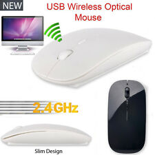 2.4 GHz Slim Optical Wireless Mouse Mice + USB Receiver For Laptop PC Macbook