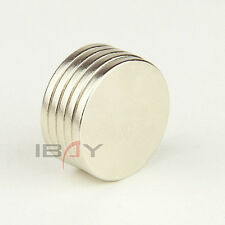 Lots 5pcs Round Cylinder Super Strong Magnets Rare Earth Neodymium D20 x 2mm N35