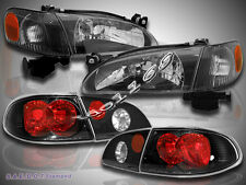 1998-2000 TOYOTA COROLLA HEADLIGHTS + CORNER LIGHTS + TAIL LIGHTS JDM BLACK