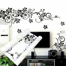 DIY Flower Vine Removable Art Door Wall Stickers Decal Mural Home Room Decor FD