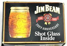 Jim Beam Glas USA 1995 Stamper Stamperl Schnapsglas shot glass Fass Design