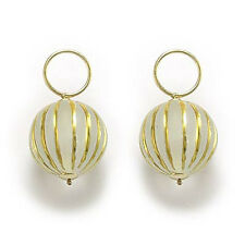 14K YELLOW GOLD STRIPPED EARRING CHARMS E640