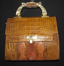 M.C. Marc Chantal Made In Italy Genuine Embossed Leather Bag Purse