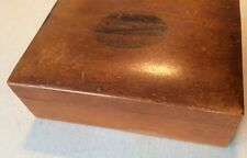 VINTAGE Old MAUCHLINE WARE WOODEN TREEN BOX