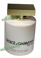 The One By Dolce & Gabbana Golden Satin Body Lotion 6.7oz New & Unbox