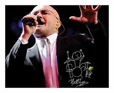 PHIL COLLINS SIGNED AUTOGRAPHED A4 PP PHOTO POSTER A