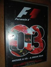DVD F1 I FILM DEL MONDIALE FORMULA 1 N°3 2003 MICHAEL & CO IL DREAM TEAM