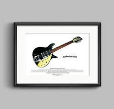 John Lennon's 1958 Rickenbacker 325 Capri ART POSTER A3 size