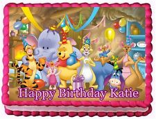 WINNIE THE POOH EDIBLE CAKE TOPPER BIRTHDAY DECORATIONS