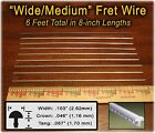 6 feet of WIDE/MEDIUM Frets/Fret Wire for All Guitars, Basses & more! 10-03-01