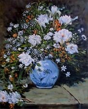 Quality Hand Painted Oil Painting Repro Pierre Renoir Spring Bouquet 20x24in